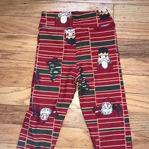 LuLaRoe kids holiday leggings.